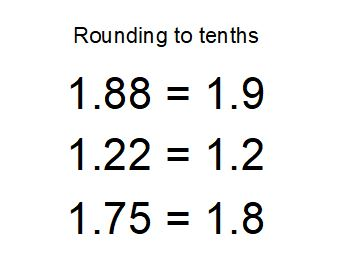 rounding to tenths